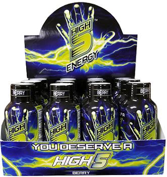 High 5 Energy Shots Berry (Case of 12 bottles)
