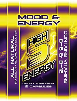 High 5 Energy Mood & Energy Capsules 2ct trial packs (20 packs)
