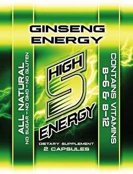 High 5 Energy Ginseng Capsules 2ct trial packs (20 packs)