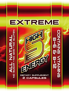 High 5 Energy Extreme Capsules 2ct trial packs (20 packs)