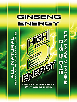 High 5 Energy Ginseng Free Sample (Contains 2 Capsules)