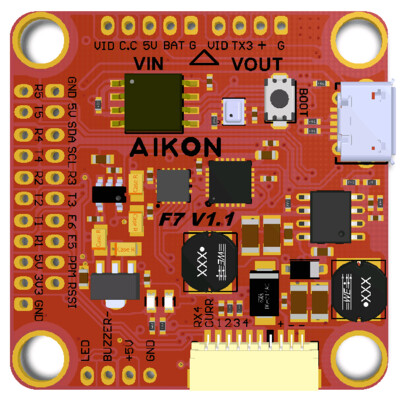 Aikon F7 30x30 Flight Controller (6S capable)
