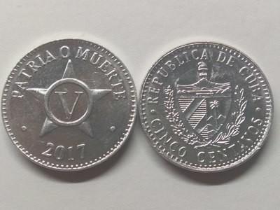 Cuba. 2017. 5 centavos CUP. Star. Type: 1915. Aluminium. 1.500 g., KM#34. UNC