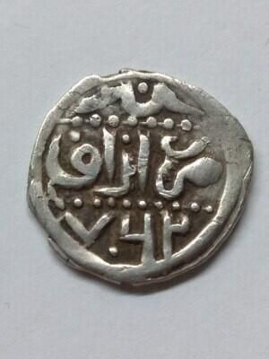Золотая Орда. Хан Ордумелик. Сентябрь-октябрь 1361 (762 г.х.). Данг. чекан Азака. Ag 1.38 g. VF+. VERY RARE.
