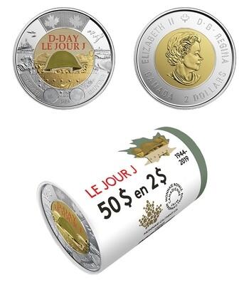 Канада. Елизавета II. 2019. 2 доллара. 75-летняя годовщина памяти