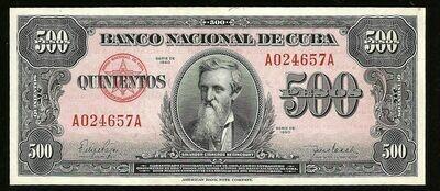 Куба. Бумажные деньги. 1950. 500 песо. Сальвадор Киснерос Бетанкурт. Тип: 1950. Серия/№: . Подпись: . Catalog #. PRESS (UNC)