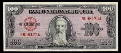 Куба. Бумажные деньги. 1954. 100 песо. Агуелера. Тип: 1954. Серия/№: . Подпись: . Catalog #. PRESS (UNC)