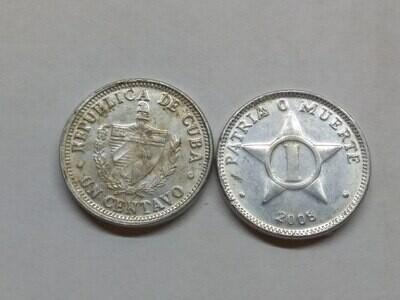 Cuba. 2008. 1 centavo CUP. Star. Type: 1915. Al. 0.750 g., KM#33.3 VF