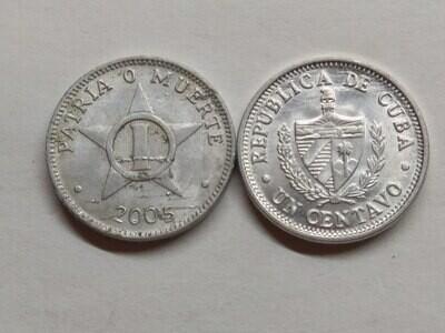 Cuba. 2005. 1 centavo CUP. Star. Type: 1915. Al. 0.750 g., KM#33.3 XF