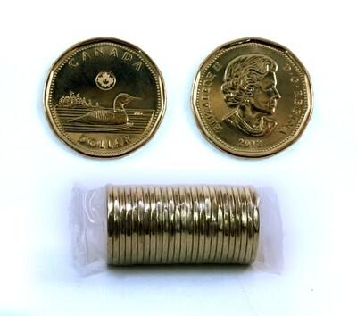 Канада. Елизавета II. 2018. 1 доллар - ролл из 25 монет. Селезень. Ni-Cu. KM#. UNC