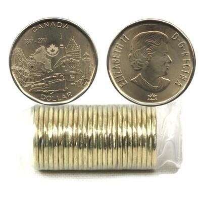Канада. Елизавета II. 2017. 1 доллар - ролл из 25 монет. Серия: 1867-2017. 150 лет Конфедерации. Достижения - Объединение нации. Ni-Cu. KM#. UNC