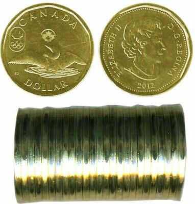 Канада. Елизавета II. 2012. 1 доллар - ролл из 25 монет. Селезень - Новое поколение. Ni-Cu. KM#. UNC