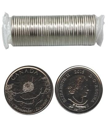 Канада. Елизавета II. 2015. 25 центов - ролл из 40 монет. Серия: 1915-2015. 100 лет поэме