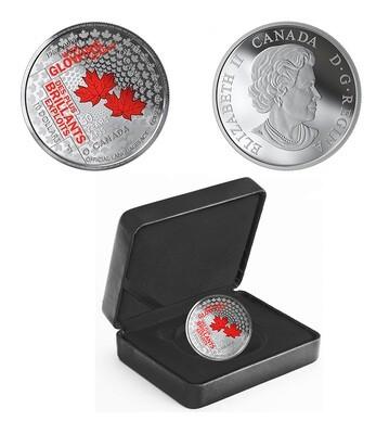 Канада. Елизавета II. 2019. 10 долларов. 50 лет официальным языкам Канады. 0.9999 Серебро 0.560 Oz., ASW., 15.870 g., PROOF/Colored. Mintage: 5,000