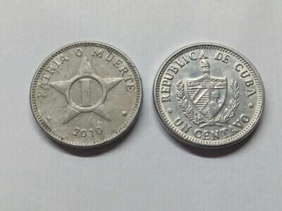 Cuba. 2010. 1 centavo CUP. Star. Type: 1915. Al. 0.750 g., KM#33.3. VF