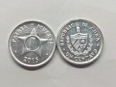 Cuba. 2015. 1 centavo CUP. Star. Type: 1915. Al. 0.750 g., KM#33.3 AU
