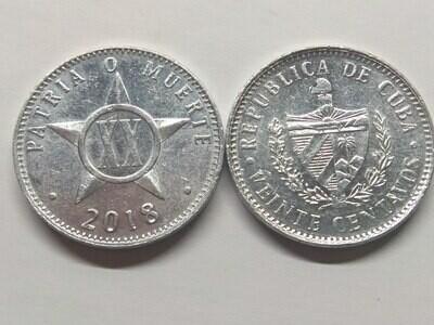 Cuba. 2018. 20 centavos CUP. Star. Type: 1915. 2.000 g., Al KM#35.1 AU