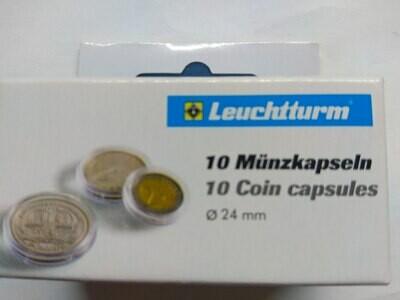 Капсулы для монет 24,00 мм. 1 * 10 шт. Lighthaus / Leuchtturm.