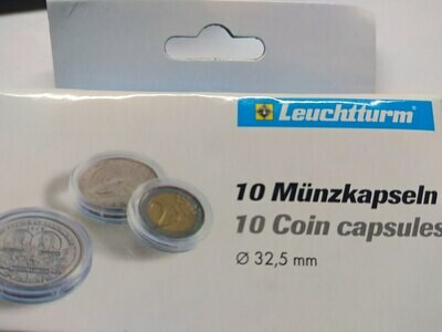 Капсулы для монет 32.50 мм. 1 * 10 шт. Lighthaus / Leuchtturm.