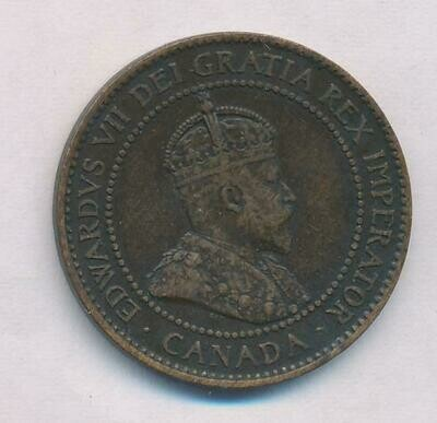 Канада. Эдвард VII. 1902. 1 цент. Cu. 5.67 g. VF ***