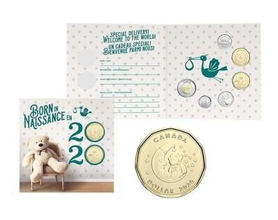 Канада. Елизавета II. 2020. 25 центов. Набор монет. Серия: Ребёнок. #26. KM# UNC. В подарочной упаковке.