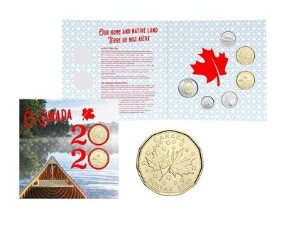 Канада. Елизавета II. 2020. 1 доллар. Набор монет. Серия: О, Канада! #27. UNC