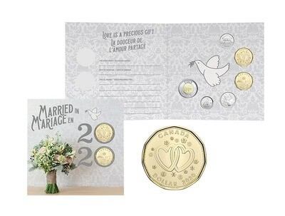 Канада. Елизавета II. 2020. 1 доллар. Набор монет. Серия: Свадебный набор. #17. UNC