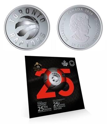 Канада. Елизавета II. 2020. 25 центов. Серия: 25 сезон Торонто Рапторс. #01. 12.61 g. UNC. В подарочной упаковке.