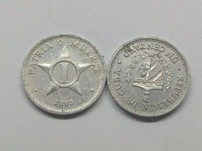 Cuba. 2003. 1 centavo CUP. Star. Type: 1915. Al. 0.750 g., KM#33.3 VF