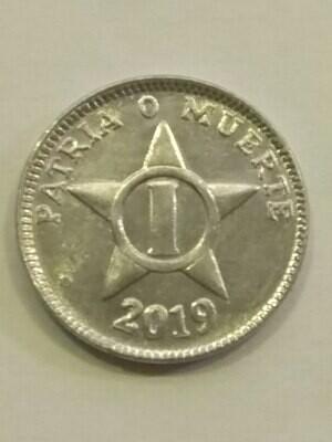 Cuba. 2019. 1 centavo CUP. Star. Type: 1915. Al. 0.750 g., KM#33.3 AU