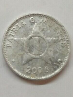 Cuba. 2006. 1 centavo CUP. Star. Type: 1915. Al. 0.750 g., KM#33.3 VF