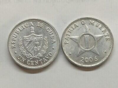 Cuba. 2006. 1 centavo CUP. Star. Type: 1915. Al. 0.750 g., KM#33.3 XF