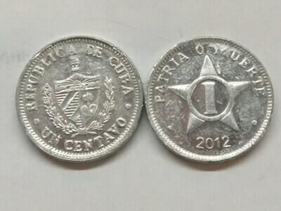 Cuba. 2012. 1 centavo CUP. Star. Type: 1915. Al. 0.750 g., KM#33.3 XF