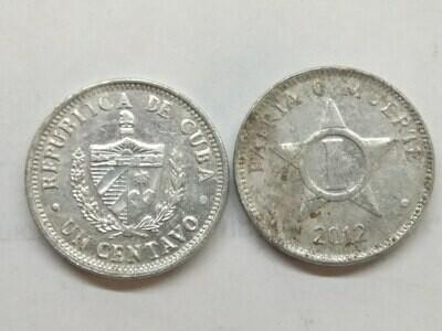 Cuba. 2012. 1 centavo CUP. Star. Type: 1915. Al. 0.750 g., KM#33.3 VF