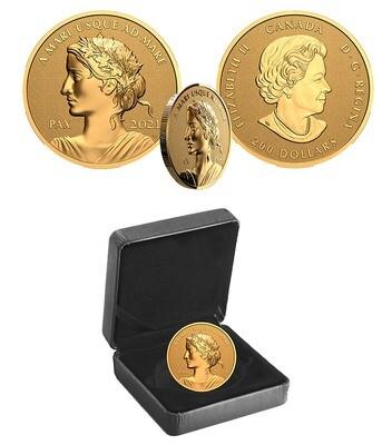 Канада. Елизавета II. 2021. 200 долларов. Серия: Мирный доллар. #02. 0.9999 Золото 1.00 Oz., AGW 31.16 g., KM# PROOF. Mintage: 500