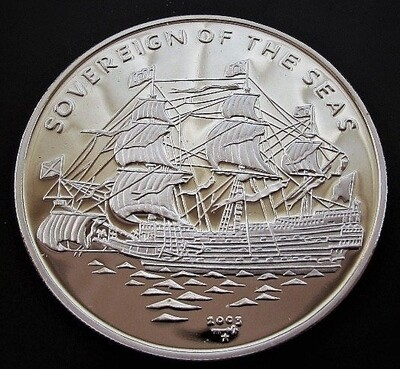 Cuba. 2000. 10 pesos. Ship Sovereing of the Seas. 0.999 Silver. 0.4787 Oz ASW. 15.00g. PROOF. KM#. Mintage: