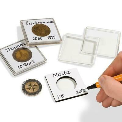 Капсулы квадратные для монет 28.00 мм. 1 * 10 шт. Lighthaus / Leuchtturm.