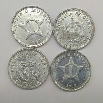 Cuba. 2008. 1 centavo CUP. Star. Type: 1915. Al. 0.750 g., KM#33.3 AU