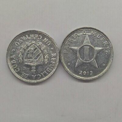 Cuba. 2013. 1 centavo CUP. Star. Type: 1915. Al. 0.750 g., KM#33.3. XF
