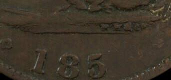 Канада. Токен Банка Верхней Канады. 1852. Один полпенни. RM. Cu. 8.00 g. AU. Note: Соосность 0°. Obv.: шт.1.1. - отсутствует