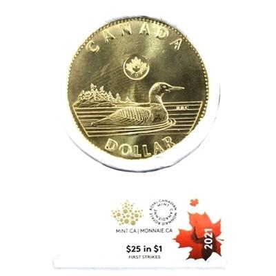 Канада. Елизавета II. 2021. 1 доллар - ролл из 25 монет. Селезень. Ni-Cu. KM#. UNC (СПЕЦИАЛЬНЫЙ ВЫПУСК)