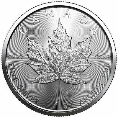 Канада. Елизавета II. 2021. 5 долларов. Кленовый лист. 0.9999 Серебро 1.0 Oz., ASW., 31.1 g., KM#625a. UNC
