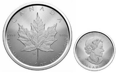 Канада. Елизавета II. 2021. 5 долларов. Кленовый лист. Тайный знак -