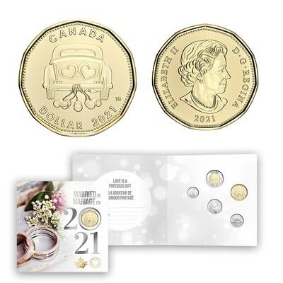 Канада. Елизавета II. 2021. 1 доллар. Набор монет. Серия: Свадебный набор. #18. Cu-Ni. UNC