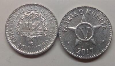 Cuba. 2017. 5 centavos CUP. Star. Type: 1915. Aluminium. 1.500 g., KM#34. XF