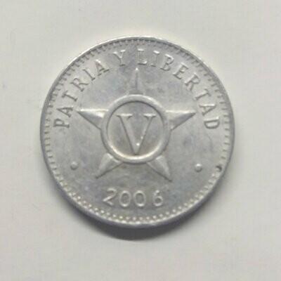 Cuba. 2006. 5 centavos CUP. Star. Type: 1915. Aluminium. 1.500 g., KM#34. XF