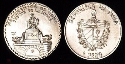 Cuba. 2004. 1 peso. Series: Monuments of Cuba. - #4. Source of India. Copper - Nickel. KM#. BU. aUNC