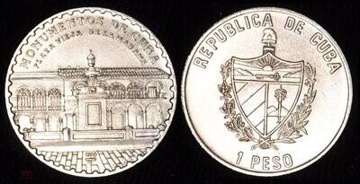 Cuba. 2004. 1 peso. Series: Monuments of Cuba. - #6. Old Havana Square. Copper - Nickel. KM#. BU. aUNC
