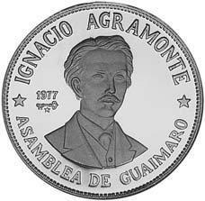 Cuba. 1977. 20 pesos. Series: Figures in the History of Cuba. -#1. Ignacio Argemonte. 0.925 Silver 0.7682 Oz ASW 26.0g., KM#. PROOF
