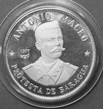 Cuba. 1977. 20 pesos. Series: Figures in the History of Cuba. -#3. Antonio Maceo. 0.925 Silver 0.7682 Oz ASW 26.0g., KM#. PROOF